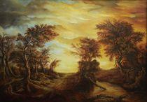 Dan Scurtu - Forest at Sunset by Dan Scurtu