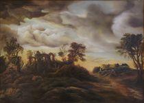 Dan Scurtu - Sunset Landscape by Dan Scurtu
