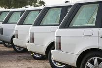 Dubai Camel Racing Track- Range Rover VIP Cars von Danita Delimont