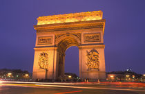 Arc de Triomphe at dusk by Danita Delimont