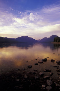 Glacier NP Sunset along Lake McDonald by Danita Delimont