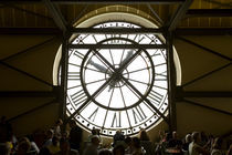 Diners behind one of the famous clocks in the Musee d'Orsay by Danita Delimont