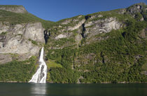 Scenic fjord view near Geiranger by Danita Delimont