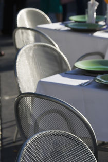 Outdoor Cafe Table Setting by Danita Delimont
