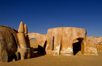 Famous movie set of Star Wars movies in Sahara Desert near Tozeur Tunisia Africa von Danita Delimont