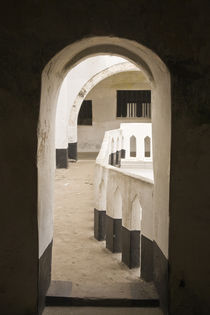 View of Cape Coast Castle from doorway von Danita Delimont