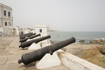 Canons gaurd seaside entrance to Cape Coast Castle by Danita Delimont