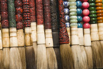 Brushes Chenghuang Miao district around the Shanghai City God Temple by Danita Delimont