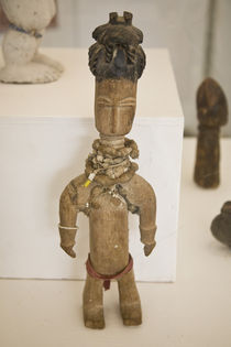 Carved female figure in National Museum of Ghana by Danita Delimont
