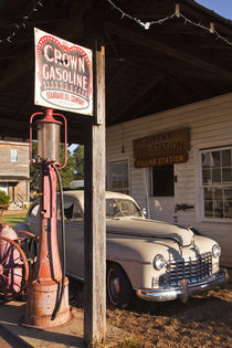 Old gas station exhibit by Danita Delimont