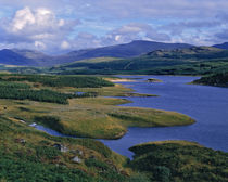 An overview of Loch Garry in the Highland of Scotland von Danita Delimont