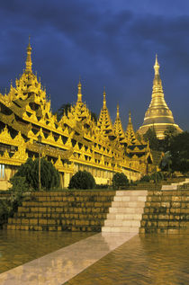 Shwedagon Pagoda at night von Danita Delimont