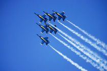 Blue Angels flyby during 2006 Fleet Week performance in San Francisco von Danita Delimont
