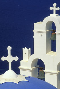 View of a Greek church and its bells by Danita Delimont