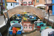 Colorful Burano City homes Reflecting in the Canal by Danita Delimont