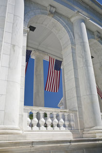 American Flags are hung around the Ampitheater located adjacent to the Tomb of the Unknown Soldier at Arlington National Cemetery von Danita Delimont