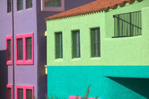 Tucson: Downtown: La Placita Complex Colorful Building Detail by Danita Delimont