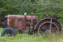 MANCHESTER: Antique Farm Tractor by Danita Delimont