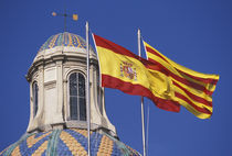 Flags of Spain and Catalonia by Danita Delimont