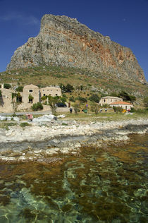 The Rock of Monemvasia set against the clear Aegean Sea von Danita Delimont