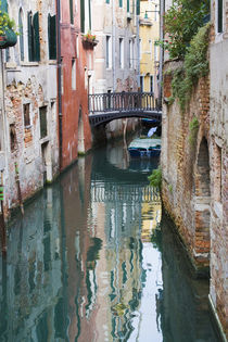Reflections and Small Bridge of Small Canal of Venice by Danita Delimont