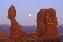Full Moon Rising at Balanced Rock by Danita Delimont