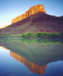 Sunlight on a mesa reflecting in the Colorado River by Danita Delimont