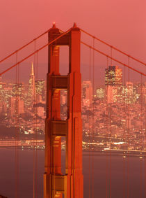 Golden Gate Bridge and city skyline by Danita Delimont