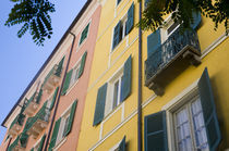 Colorful apartment buildings in Ajaccio by Danita Delimont