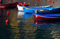 Boats in Vernazza harbor von Danita Delimont