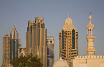 With towers of Sheik Zayed Road behind by Danita Delimont