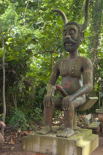 Statue of phallic voodoo deity by Danita Delimont