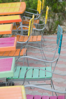 Palm Beach: Colorful Cafe Tables & Chairs by Danita Delimont