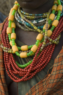 A woman's beaded necklaces von Danita Delimont