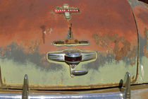 Detail of rusted trunk on old Chrysler automobile by Danita Delimont