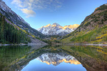 Maroon Bells from Maroon Lake by Danita Delimont