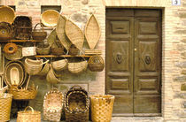 Basket seller & wall by Danita Delimont