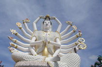 Giant statue of Kwan Yin (aka Guanjin) the 18-armed Buddhist avator of Mercy by Danita Delimont