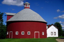 Round barn with cupola by Danita Delimont