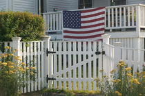 Gloucester: Patriotic Fence Annisquam Village by Danita Delimont