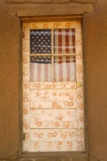 1450) Patriotic & Artistic Pueblo Door by Danita Delimont