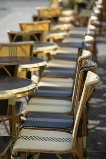 Beaubourg: Cafe Tables / Morning / Plateaux Beaubourg by Danita Delimont