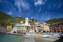 Harbor and Church of Vernazza by Danita Delimont