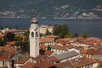 Town view and Chiesa San Stefano church by Danita Delimont