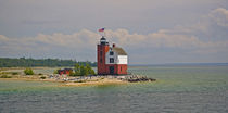 A view of Round Island Light Station von Danita Delimont