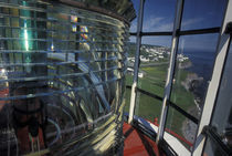 Lightbulb and fresnel lens at Cap-de-Rosiers Lighthouse von Danita Delimont