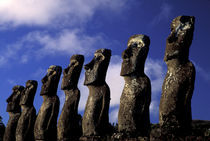 Huge moai (volcanic stone sculpture) by Danita Delimont