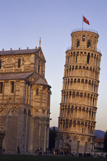Pisa Leaning Tower of Pisa and cathedral by Danita Delimont