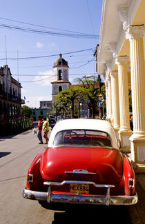 Old classic American auto in Guanabacoa a town near Havana Cuba Habana by Danita Delimont