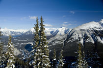 Views of the Bow Valley from the summit of Sulphur Mountain by Danita Delimont